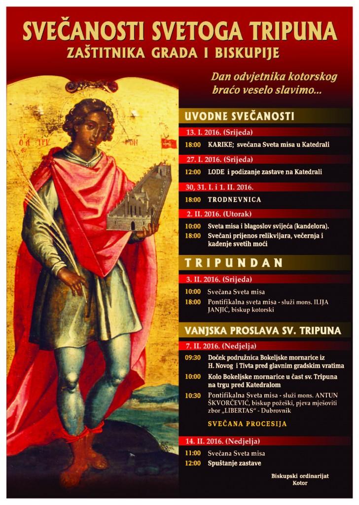 Sveti Tripun - plakat 2016