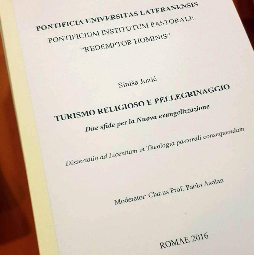 Don Siniša Jozić obranio licencijatski rad iz pastoralne teologije