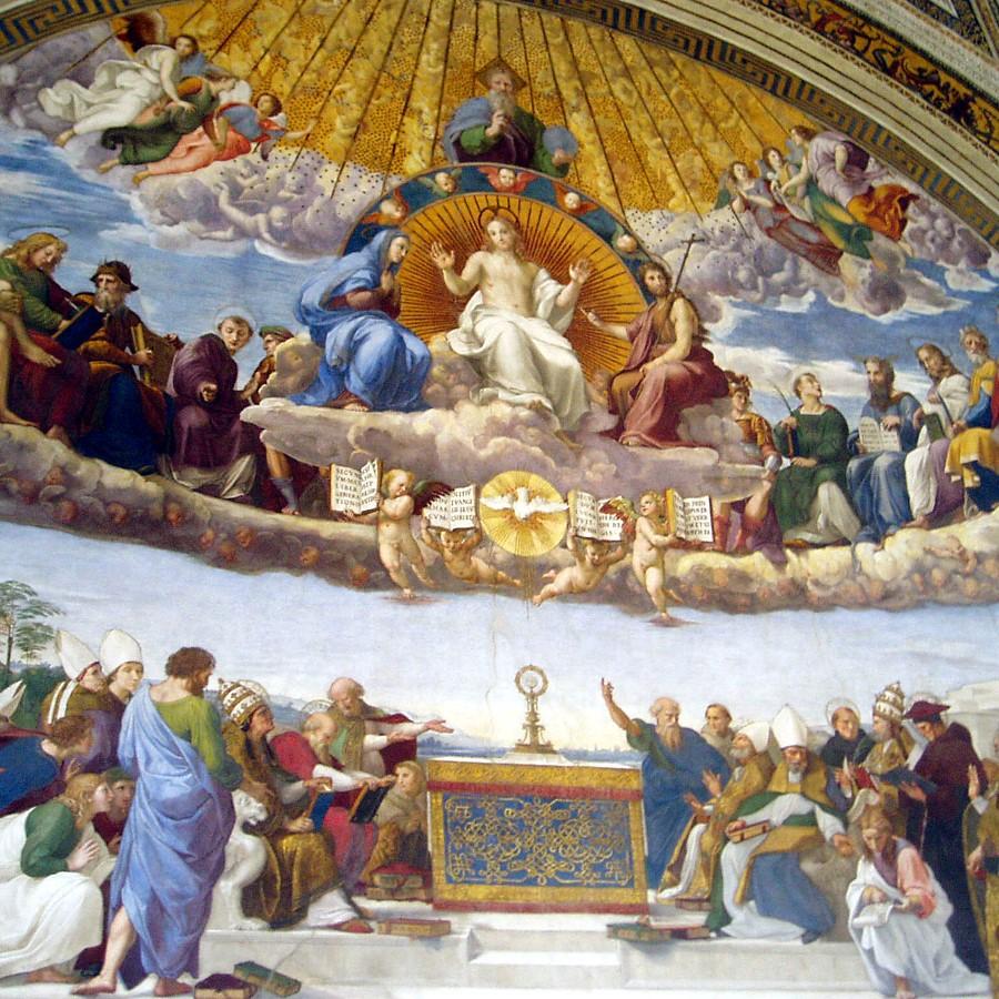 Svi sveti - freska