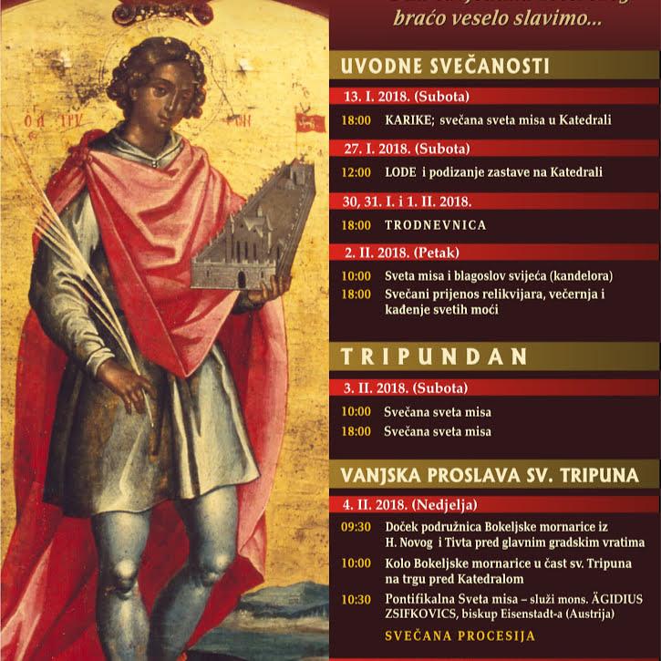 Svečanosti u čast Sv. Tripuna, zaštitnika grada i biskupije